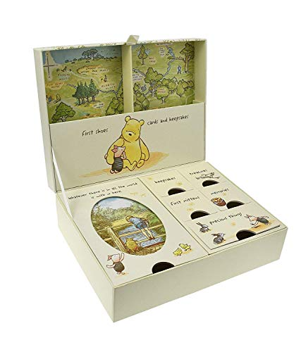 Pooh Classics Range Disney Keepsakes Baby Box with Compartments New (DI167), 200 g