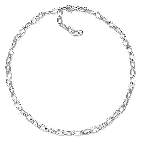 MATERIA Collier Silber 925 Damen Kette - Silberkette Halskette Ankerkette 5mm breit in Geschenk-Etui CO-43-Silber