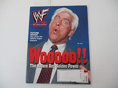 JANUARY 2002 WWF MAGAZINE FEATURING RIC FLAIR - WOOOO! - THE NATURE BOY SEIZES POWER*