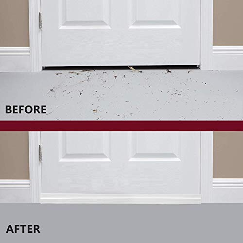 "3 Pack Door Draft Stopper (39"" x 2""), Strong Self-Adhesive Under Door Seal Fits for for Exterior and Interior Doors - Door Draft Blocker, Draft Guard for Door Soundproofing (White)"
