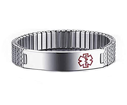Armband - type diabetes - diabetes - elastisch - medische identificatie - armband - man - vrouw - cadeau-idee - verjaardag - kerstmis