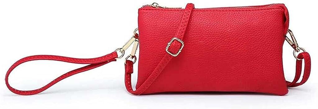 Jen & Co. Riley Wristlet Red