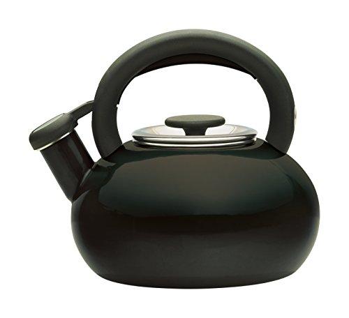 Prestige Bollitore smaltato da 1,4 l, Modello Retro, Color Mandorla, Acciaio, Black, 1.4 L