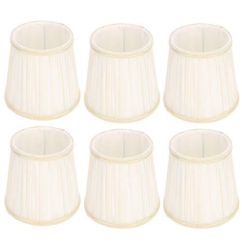 Operalie Cubierta de lámpara de Pared, Accesorio de Cubierta de lámpara de Pantalla de Tela de Tela Moderna para lámpara de Pared E14 Beige Claro 6 Piezas