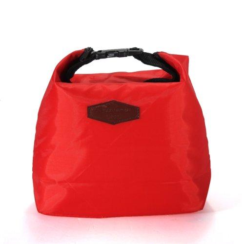 Kühltasche Lunchbeutel Wasserdicht, faltbar, für Picknick Mittagessen Reise NEU rot
