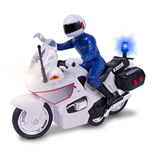 Mossos Motorrad 15 cm mit Licht und Sound (Dickie 1152004), Farbe/Modell Sortiert