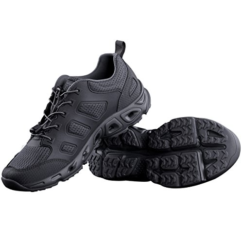 FREE SOLDIER Men's Tactical Shoes Summer Ventilated Ultra Light Quick Dry Hiking Shoes for Water and Dry Land Trekking Tactical Boots (Gray, US 9)