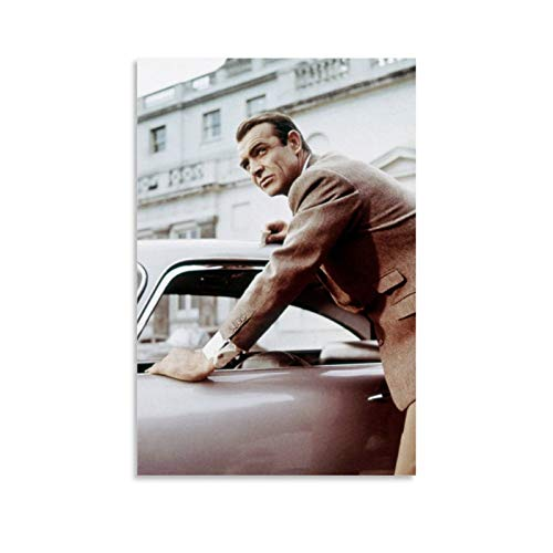 NQSB Film Stars Sean Connery 007 James Bond 12 Poster decorativo su tela da parete per soggiorno, camera da letto, 60 x 90 cm