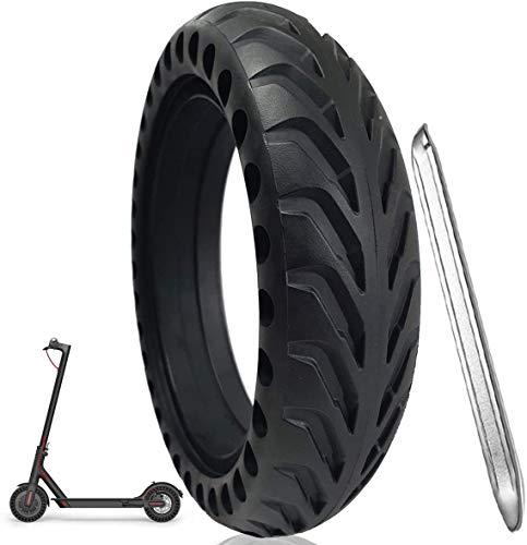Bitume® Pneu Plein Increvable pour Trottinette Electrique Xiaomi, M365, M365 Pro, 1S. 8,5 Pouces Pour roue avant et arrière + avec démonte pneu en métal