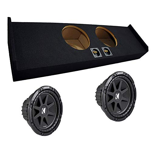 "Compatible with Ford F-150 09-12 Super Crew Cab Truck Dual 10"" Kicker C10 Subwoofer Sub Box Enclosure 600 Watts Peak"