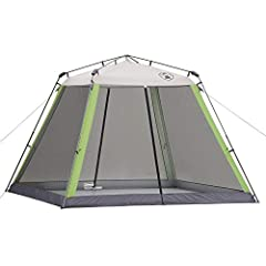 SUN PROTECTION: UVGuard material offers UPF 50+ sun protection INSTANT SETUP: In as fast as 1 minute BUG-FREE ENTERTAINING: Screen walls keep the mosquitoes away 2 LARGE DOORS: For entry from either side of the tent BUILT TO LAST: Double-thick fabric...