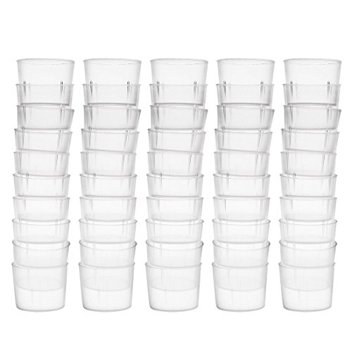 Vaso medidor 15ml PP Vaso graduado de plástico transparente para líquidos de cocina de laboratorio 50pcs