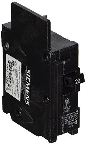 Siemens BQ1B020 20-Amp Single Pole 120-Volt10KAIC Lug Out Breaker, Black