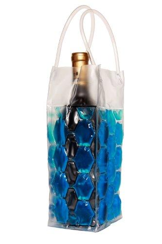 Zees Inc Pocket Bottles Cs2006 Freezable Wine Tote, Blue
