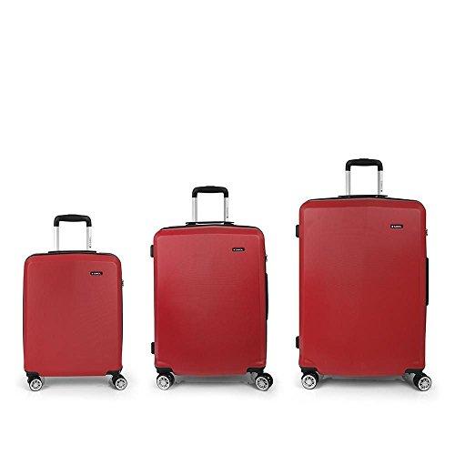 Set 3 Maletas C22-M-L Gabol Mondrian Rojo