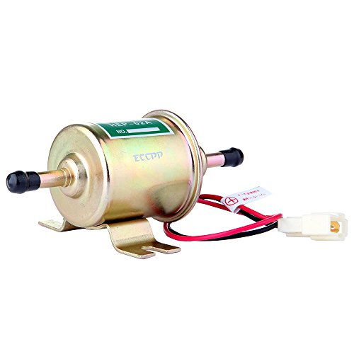 ECCPP Fuel Pump 12v Electric Transfer Universal Low Pressure Gas Diesel Fuel Pump 2.5-4psi HEP-02A