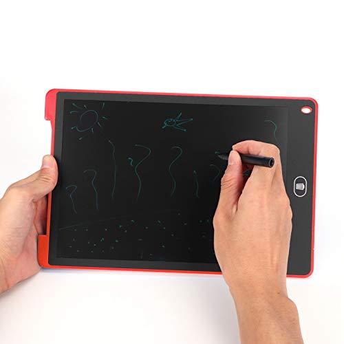 Tablero de dibujo Tablero de escritura Tableros de garabato Tablero de escritura LCD Tablero de visualización de dibujo Tablero de dibujo Tableta de dibujo de 12 pulgadas para niños Juguete(red)