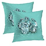 Batmerry Love Pillow Decorative Throw Pillow Covers 18x18 Inch Set of 2, Brilliant Round Brilliants Illustrated Double Sided Square Pillow Cases Pillowcase Sofa Cushion