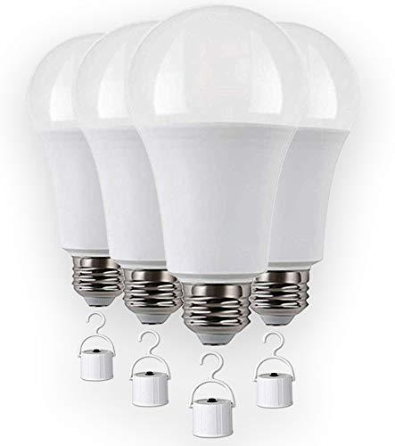 Rechargeable LED light bulbs with Battery backup, Emergency LED Bulb, Pack of 4, LED 60 Watt bulb.