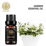 Jazmín de aceite esencial de aromaterapia, aceites de fragancia de jazmín 100% puros para difusor, humidificador, masaje, aromaterapia, hogar, Jasmine Scent aceites esenciales 0.33 oz - 10ml
