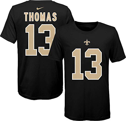 Nike Michael Thomas New Orleans Saints NFL Boys Youth 8-20 Black Player Pride Name & Number T-Shirt (Youth Small 8)
