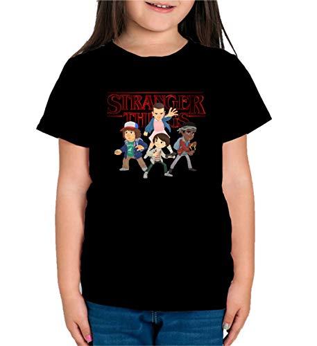 Camiseta de NIÑAS Stranger Things Once Series Retro 80 Elev