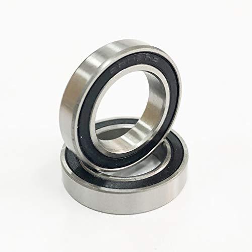 Rodamiento de cerámica híbrido 6802 ABEC-1 (1 PC) | 6802-2RS Bicicleta 15x24x5mm Si3N4 Rodamiento de bolas de cerámica | 61802 rodamientos BB Hubs