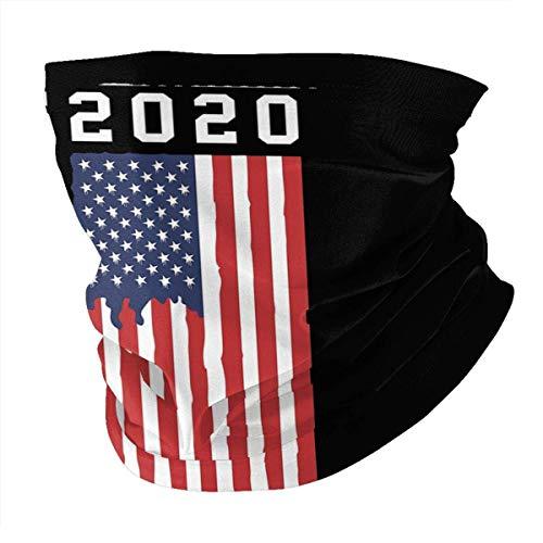 Medsforu Staubdichte Gesichtsschalabdeckung Abdeckung Trump 2020 Kampagne Bandanas UV-Schutzhalsmanschette für den Außenbereich