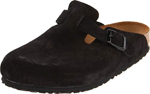 Birkenstock Boston Soft Footbed (Unisex) Black Suede 37 (US Women's 6-6.5) Narrow
