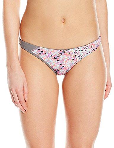 ASICS Kanani Geo - Bikini para Mujer, Mujer, BV2537, Pink Glow/Steel Grey, X-Large
