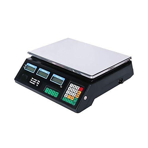 ZCXBHD Digitale elektronische weegschaal, roestvrij staal, LCD dubbelzijdige weergave prijsberekening wegen commerciële verkoop platform voor fruit Veggie weegschaal