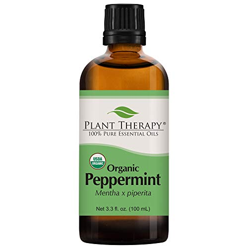 Plant Therapy Organic Peppermint Essential Oil 100% Pure USDA Certified Organic Undiluted Natural Aromatherapy Therapeutic Grade 100 mL 33 oz