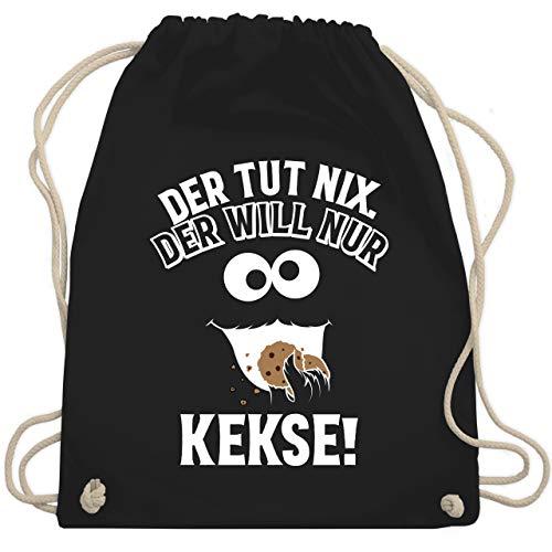Karneval & Fasching - Der tut nix. Der will nur Kekse! - Unisize - Schwarz - kekse bag - WM110 - Turnbeutel und Stoffbeutel aus Baumwolle