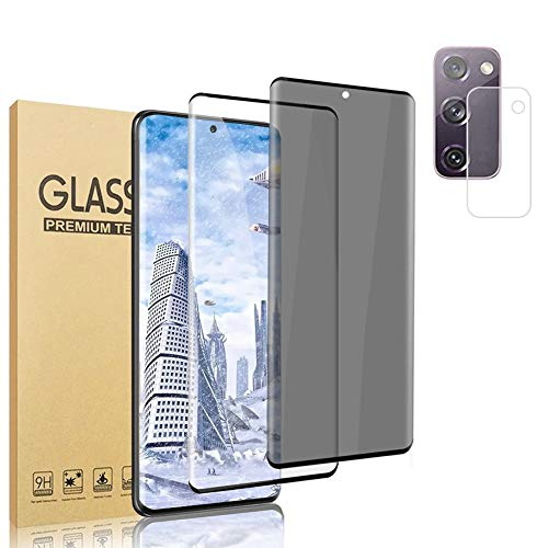 [2 Pack Screen Protector + 1 Camera Lens Protector ] Galaxy S20 FE Screen Protector, Fingerprint...