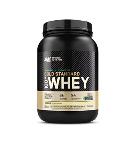 Optimum Nutrition Gold Standard 100% Whey Protein Powder, Naturally Flavored Vanilla, 1.9 Pound...