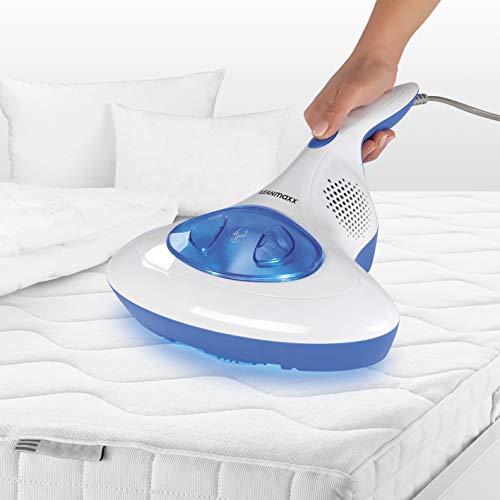 CLEANmaxx Milben-Handstaubsauger | Antimilben-Sauger mit UV-C-Licht | Reinigung und Desinfizierung in einem Schritt | inkl. HEPA Filter [Hochwertiger Kunststoff] (Blau)