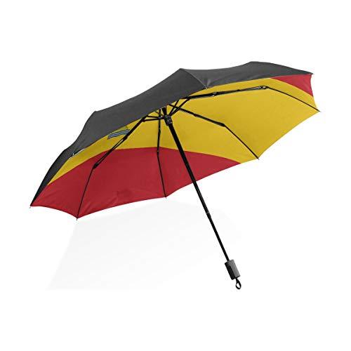 Regen Regenschirme Für Männer Hochdetaillierte Flagge Spanien Tragbare Kompakte Taschenschirm Anti Uv Schutz Winddicht Outdoor Reise Frauen Riesen-Sonnenschirm