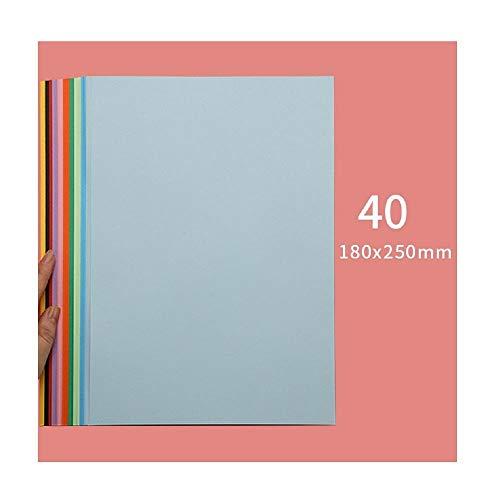 Cartulina dura de color, papel A4, papel de color, corte de papel de origami A3 grande, papel de pila rectangular-Pequeño * 40 hojas