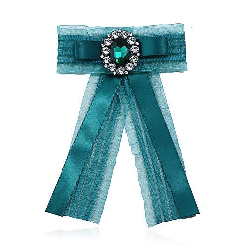 Broche Pin Joyería de las mujeres, Fiesta de la boda las mujeres del Rhinestone cristalino de la manera pre atado del Bowknot del cordón broche collar ramillete Traje camisa corbata Regalos de Boda jo