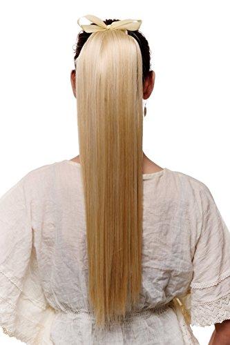 WIG ME UP - Postiche capillaire queue de cheval extension blond doré tombante maintien avec élastique et pinces env. 60 cm C9429-611
