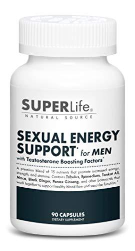 Sexual Energy Support for Men - with Tongkat Ali, Epimedium, Tribulus Terrestris & Maca Root | Promotes Sexual Energy, Stamina, Arousal & Optimal Testosterone Production | Supplement - 90 Capsules