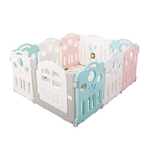 Childrens playpens Kolorowe kojec z gumy antypoślizgową play yards baby fence activity Center z zamkniętymi drzwiami domu kryty odkryty (pięć rozmiarów) (Size : 1mx1.2m)