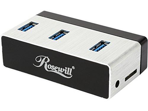 "Rosewill RHB-410 Aluminum Mini USB 3.0 3-Port Hub Plus 2.5"" SATA? 6G Enclosure Adapter - Retail"
