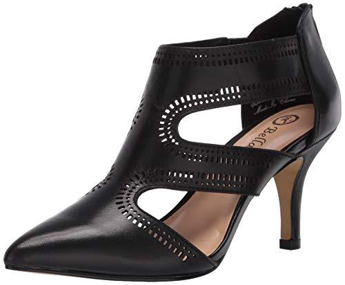 Bella Vita Women's Pump, Black Leather, 7 X-Wide US