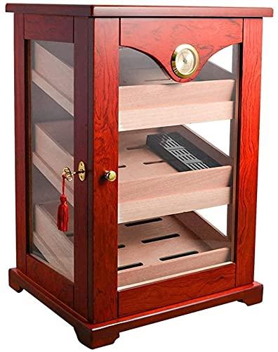 NHLBD Accesorios para Fumar, Caja de cigarros Gabinete de cigarros-Humidificador de cigarros Caja de Tres Capas, Caja de cigarro de Gran Capacidad Caja de hidromasaje Hidratante Caja Decorativa