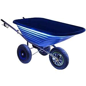 80 kg Electric Powered Wheelbarrow Delux 500W 125 L Blue