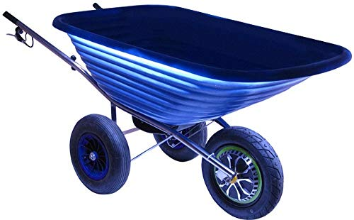 80 kg Electric Powered Wheelbarrow Delux 500W 125 L Blue