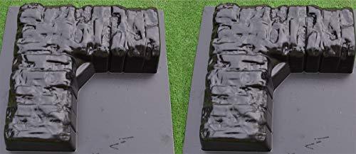 Betonex Concrere molds 2 pcs Corner Edge Stone Garden Edging Tree Landscape Flower BR09