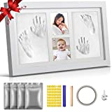 Newborn Baby Handprint and Footprint Picture Frame Kit,Baby Footprint kit, Perfect for Baby Boy Gifts, and Pets, Baby Shower Gifts, Newborn Baby Keepsake Frames,Baby Birthday Gift,Best New Mom Gift.