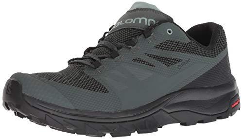 Salomon Men's Outline GTX Hiking Shoes, Urban Chic/Black/Green Milieu, 8.5